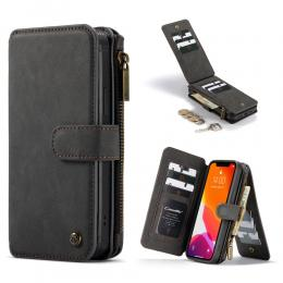 CASEME iPhone 12 Pro Max - CASEME 2-i-1 Multifunktionellt Plånboksfodral - Svart - Teknikhallen.se