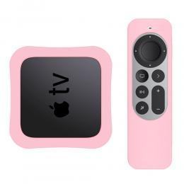 Apple TV 4K 2021 Silikonskal För Kontroll  Box - Ljus Rosa - Teknikhallen.se