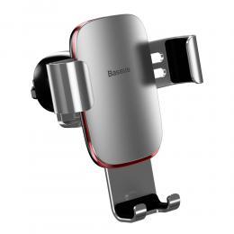 BASEUS Baseus Aluminium Mobilhållare för Luftventil - Silver - Teknikhallen.se