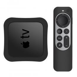 Apple TV 4K 2021 Silikonskal För Kontroll  Box - Svart - Teknikhallen.se