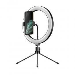 APEXEL TikTok LED Selfie-Lampa 26 cm med Stativ - Svart - Teknikhallen.se