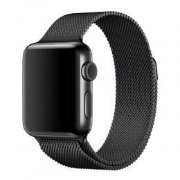 Milanese Loop Metall Armband Apple Watch 42/44 mm - Svart - Teknikhallen.se