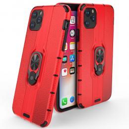 iPhone 11 - Ring Skal - Funkar med magnethållare - Röd - Teknikhallen.se