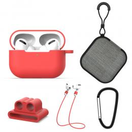 Komplett paket för dina AirPods Pro - Röd - Teknikhallen.se