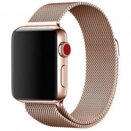Milanese Loop Metall Armband Apple Watch 40/38 mm - Roséguld - Teknikhallen.se