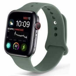 Silikon Armband Apple Watch 42/44 mm - Mörk Grön - Teknikhallen.se