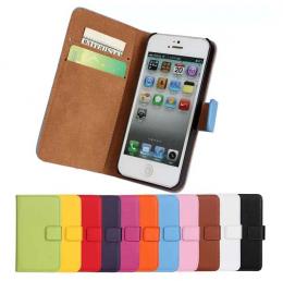 iPhone 6/6S - Plånboksfodral I Äkta Läder - Välj Färg! - Teknikhallen.se