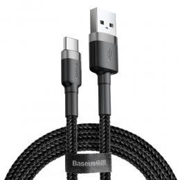 BASEUS Baseus Cafule 3m USB-C QC3.0 Laddningskabel - Svart/Grå - Teknikhallen.se