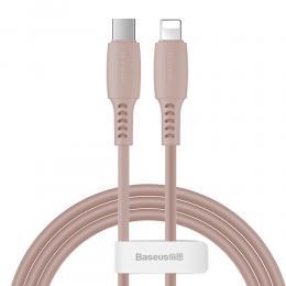 BASEUS Baseus 1.2m 18W USB-C PD - Lightning Kabel - Rosa - Teknikhallen.se