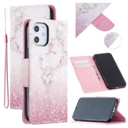 iPhone 12 Mini - Plånboksfodral - Marmor Fade - Teknikhallen.se