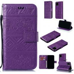 iPhone 11 - Plånboksfodral Elephant - Lila - Teknikhallen.se