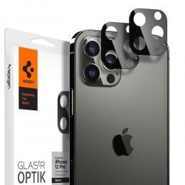 Spigen iPhone 12 Pro Max - Spigen 2-PACK Optik GLAS.TR Linsskydd - Teknikhallen.se