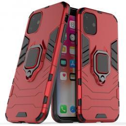 iPhone 11 - Armour Ring Skal - Funkar med magnethållare - Röd - Teknikhallen.se
