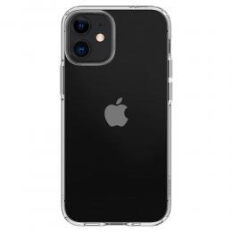 Spigen iPhone 12 Mini - Spigen Liquid Crystal Skal - Transparent - Teknikhallen.se