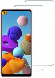 Samsung Galaxy A21s - 2-Pack - Skärmskydd i Härdat Glas - Teknikhallen.se