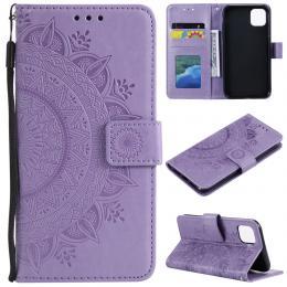 iPhone 11 - Plånboksfodral Mandala - Lila - Teknikhallen.se