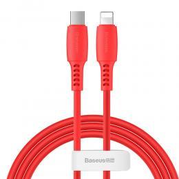 BASEUS Baseus 1.2m 18W USB-C PD - Lightning Kabel - Röd - Teknikhallen.se