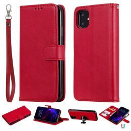 iPhone 11 - Plånboksfodral/Magnet Skal 2in1 - Röd - Teknikhallen.se