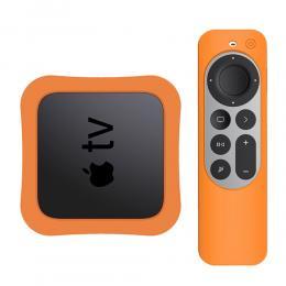Apple TV 4K 2021 Silikonskal För Kontroll  Box - Orange - Teknikhallen.se