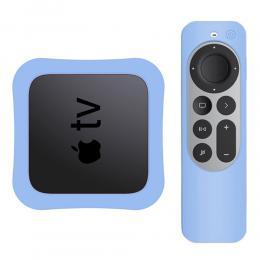Apple TV 4K 2021 Silikonskal För Kontroll  Box - Blå - Teknikhallen.se